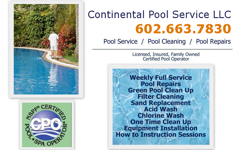 Weekly Pool Service Quote in Phoenix, Scottsdale, Peoria, Goodyear, Sun City, Surprise